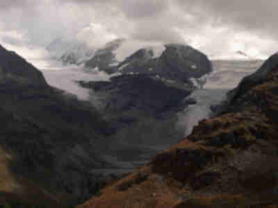The lower tongues of the Brunegggletscher and Turtmanngletscher