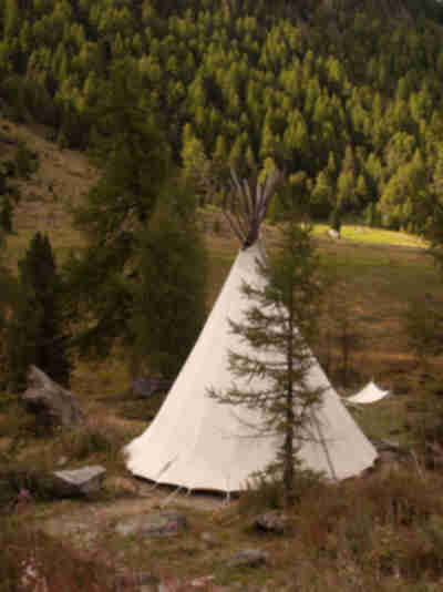 A tipi...in Switzerland...  because that makes sense...