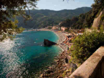 Looking over to the other beach of Monterosso al Mare