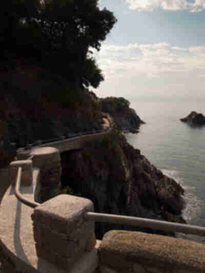 Starting down the Cinque Terre trail to Vernazza