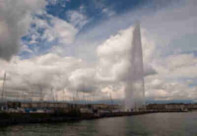 Geneva also has a huge fountain...not really sure why...but it does.  And this is the city's most famous landmark.