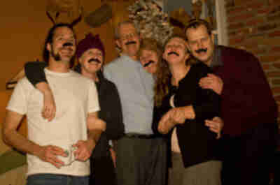 Merry Mustachioed Christmas from the Dunn's (and Davis's)
