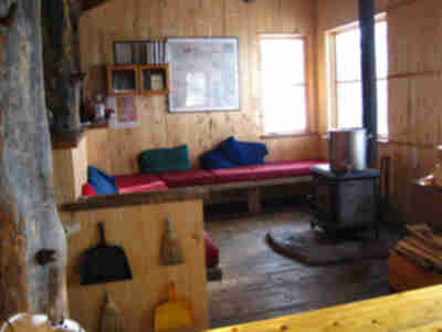 The living space around the fire