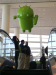 Upon entering the Android floor, we were greeted by this friendly droid