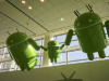 The Droid Family above the Google TV showcases