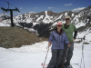 Brian and Lisa - a little summer skiing