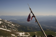 A flag atop Peak 10