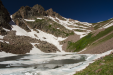Snow Lake, with Snow Pass and Snow Peak high above