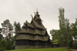 A stave church, originally built around 1200 (and modified up through the 1800's)