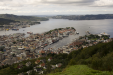 Looking down on Bergen after taking the Fløibanen funicular