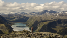 Looking at the far end of Lake Gjende (at the Gjendebu hut)