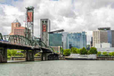 Hawthorne Bridge and downtown Portland