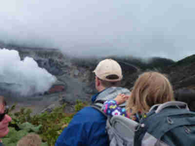 Hiking at the Poas volcano