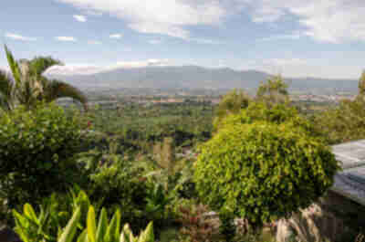 Our view over the San Jose valley from the Alajuela house