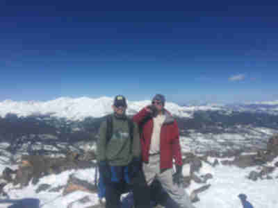 The first wave up Homestake Peak