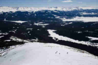 Ski descent of Homestake