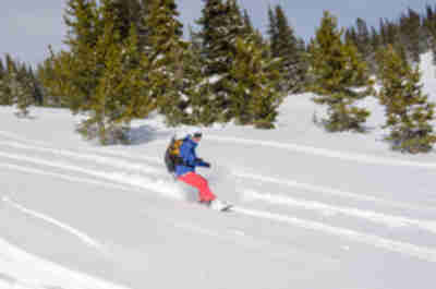 Skiing at St. Kevins Gulch