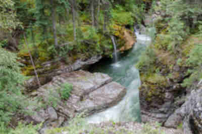 A waterfall in Maligne Canyon