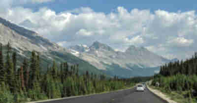 Views along the Icefields Parkway